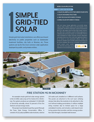 Fact Sheet 1 - Simple Grid-Tied Solar