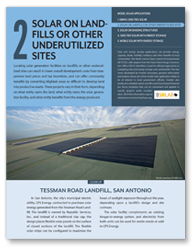Fact Sheet 2 - Solar on Underutilized Land