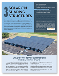 Fact Sheet 3 - Solar on Shading Structures