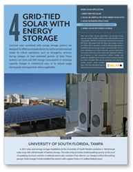 Fact Sheet 4 - Grid-Tied Solar with Energy Storage