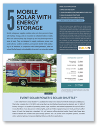 Fact Sheet 5 - Mobile Solar with Energy Storage