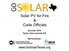 Solar PV for Fire and Code Officials