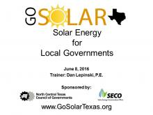 Solar Energy Basics, Permit Processes, and Ordinance Development
