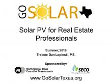 Solar PV for Real Estate Professionals Training